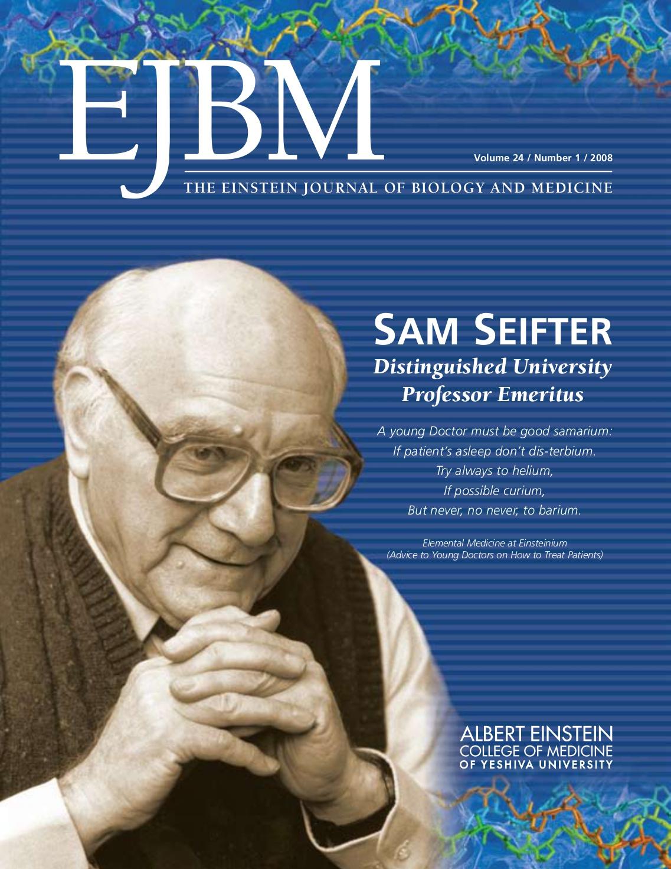 reflections-sam-seifter-albert-einstein-college-of-medicine